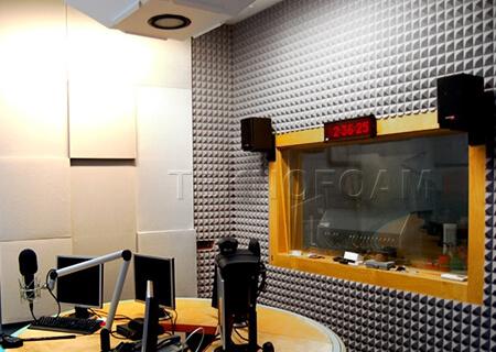 Akustik Piramit Sünger Radyo Odası Ses Yalıtımı