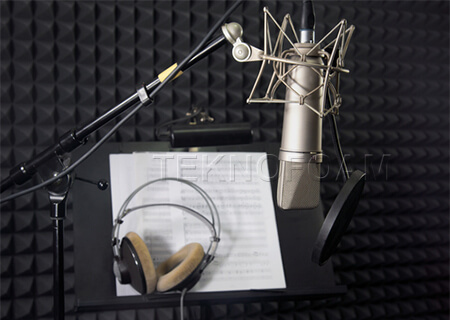 Akustik Piramit Sünger Ses Kayıt Odası Ses Yalıtımı