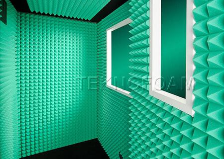 Renkli Akustik Piramit Sünger Ses Yalıtımı