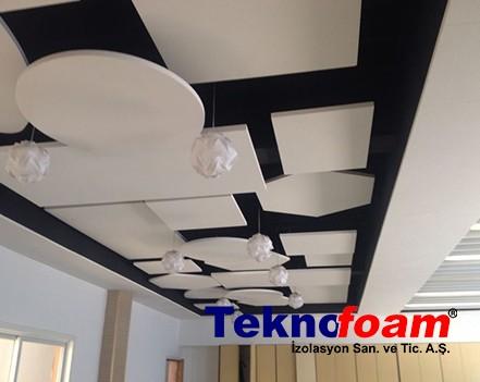 Akustik Yüzer Tavan Paneli Detayı