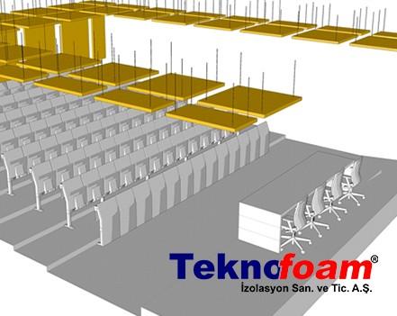 Akustik Yüzer Tavan Paneli Konferans Salonu Ses Yalıtımı