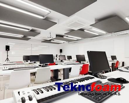 Akustik Yüzer Tavan Paneli Müzik Odası Ses Yalıtımı
