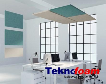 Akustik Yüzer Tavan Paneli Ofis Ses Yalıtımı