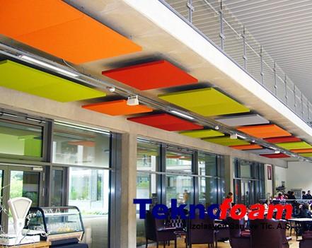 Akustik Yüzer Tavan Paneli Restaurant Ses Yalıtımı
