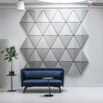 3D Üçgen Akustik Dekoratif Duvar Panelleri