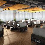 Akustik Baffle Sarkık Kumaş Kaplı Akustik Yüzer Tavan Paneli
