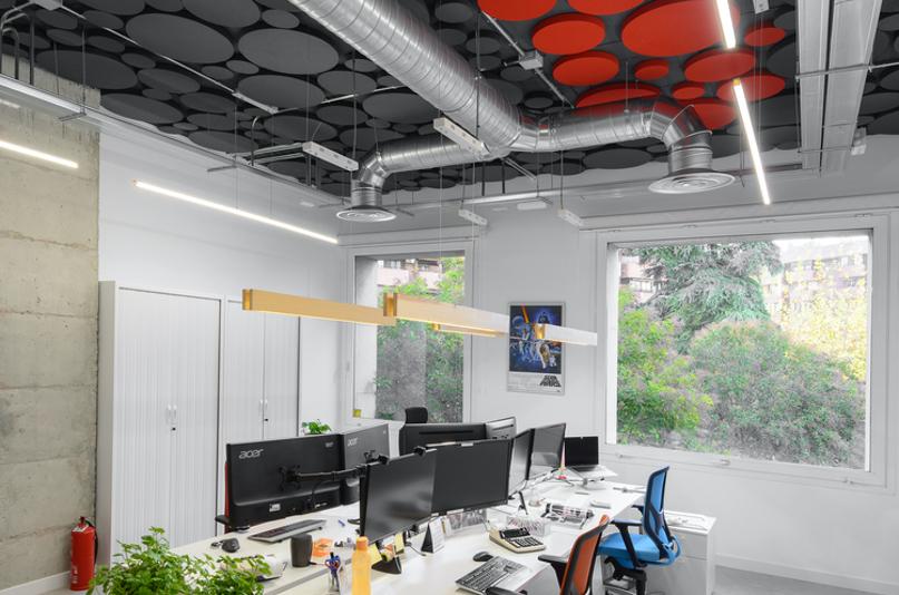Açık Ofis Ses Yalıtımı Akustik Kumaş Kaplı Paneller