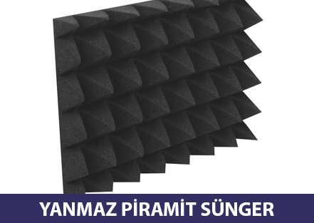 Yanmaz Piramit Sünger Ses Yalıtım Süngerleri Ses Yalıtımı Ankara