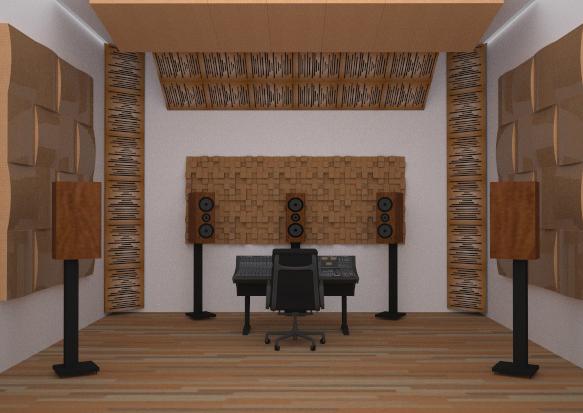 Akustik Difüzör Panel Stüdyo Akustik Malzemeleri